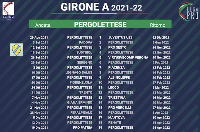 calendario pergolettese 2021-2022