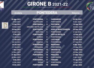 calendario pontedera 2021-2022