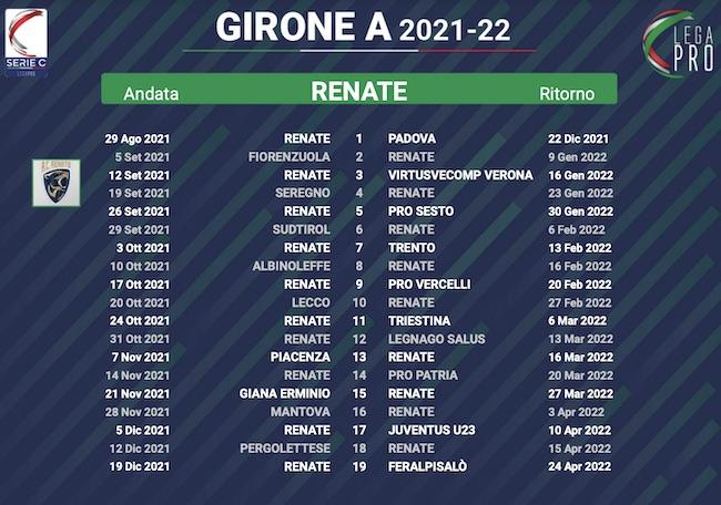 calendario renate 2021-2022