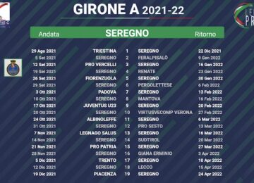 calendario seregno 2021-2022