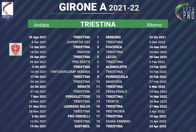 calendario triestina 2021-2022