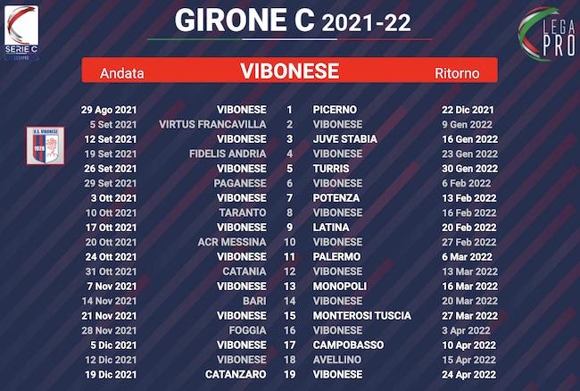 calendario vibonese 2021-2022