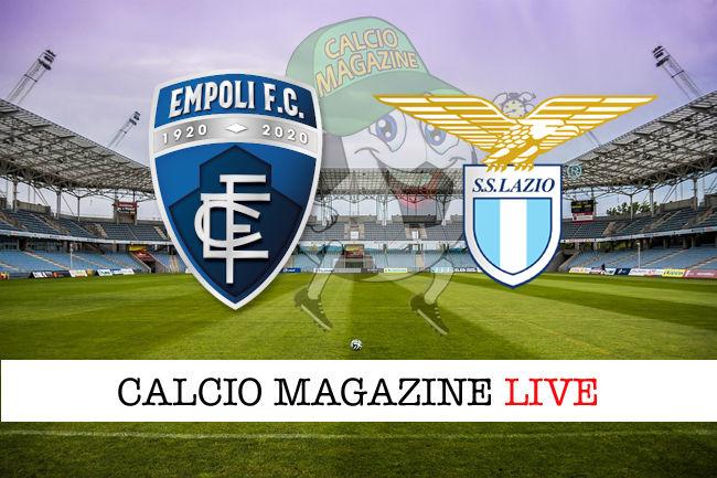 Empoli Lazio cronaca diretta live risultato in tempo