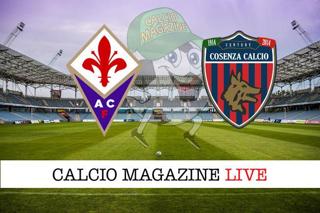Fiorentina Cosenza cronaca diretta live risultato in tempo reale