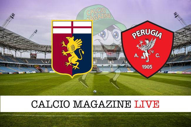 Genoa Perugia cronaca diretta live risultato in tempo reale