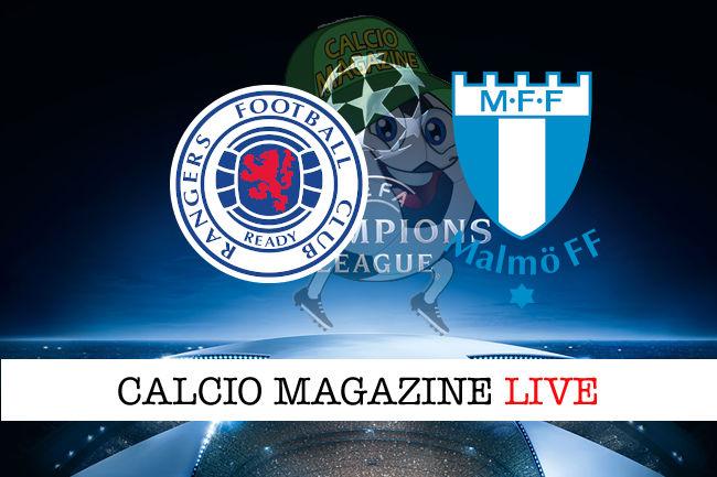 Glasgow Rangers Malmo cronaca diretta live risultato in tempo reale