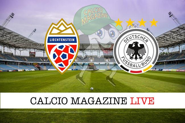 Liechtenstein Germania cronaca diretta live risultato in tempo reale