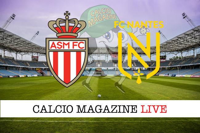 Monaco Nantes cronaca diretta live risultato in tempo reale