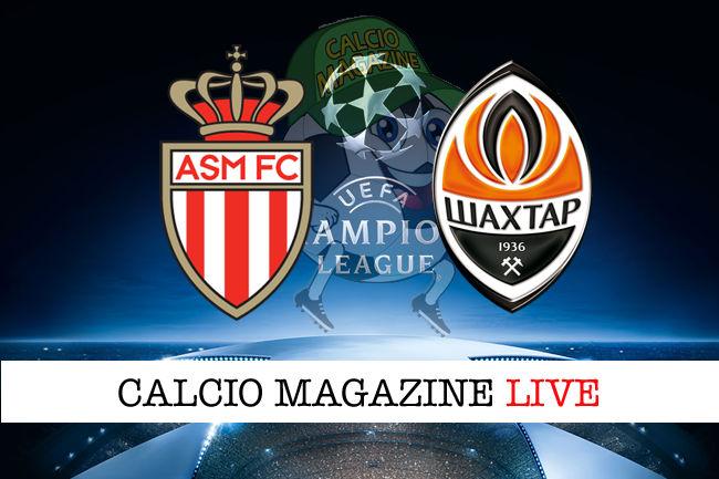 Monaco Shakhtar Donetsk cronaca diretta live risultato in tempo reale