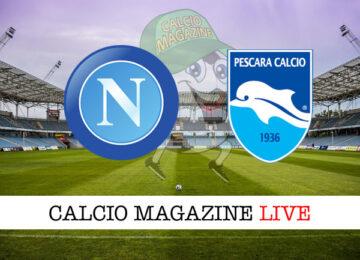 Napoli Pescara cronaca diretta live risultato in tempo reale