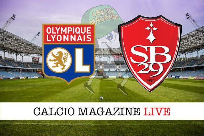 Olympique Lione Brest cronaca diretta live risultato in tempo reale