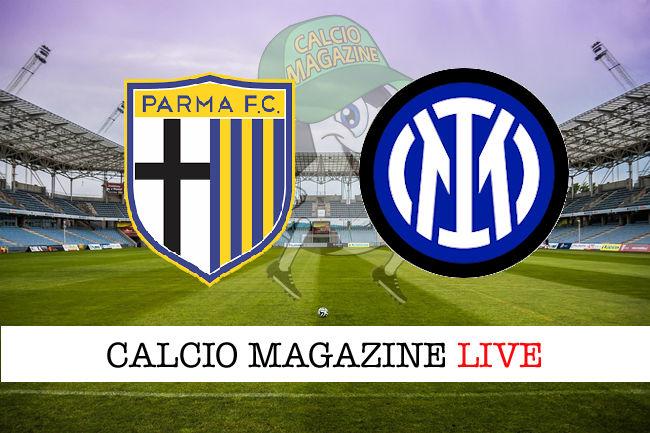 Parma Inter cronaca diretta live risultato in tempo reale