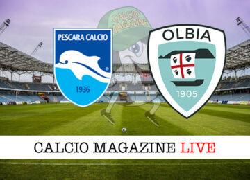 Pescara Olbia cronaca diretta live risultato in tempo reale