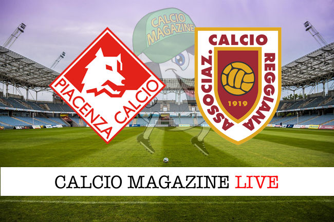 Piacenza Reggiana cronaca diretta live risultato in tempo