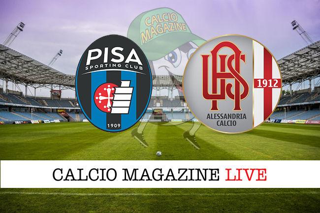 Pisa Alessandria cronaca diretta live risultato in tempo reale