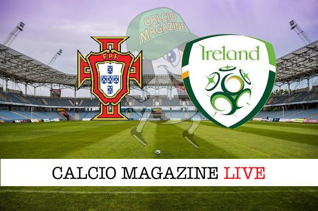 Portogallo Irlanda cronaca diretta live risultato in tempo reale