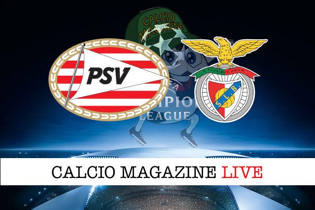 PSV Benfica cronaca diretta live risultato in tempo