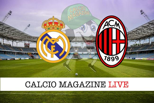 Real Madrid Milan cronaca diretta live risultato in tempo reale