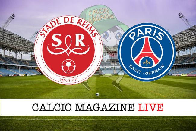 Reims PSG cronaca diretta live risultato in tempo reale