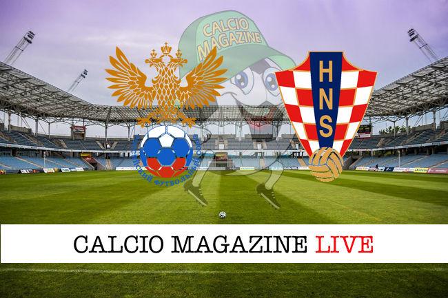 Russia Croazia cronaca diretta live risultato in tempo reale