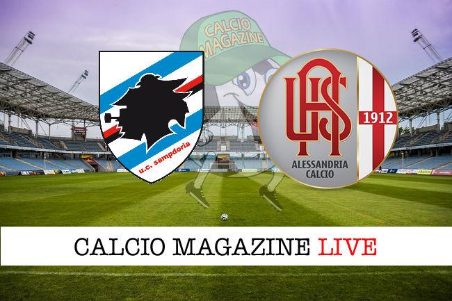 Sampdoria Alessandria cronaca diretta live risultato in tempo reale