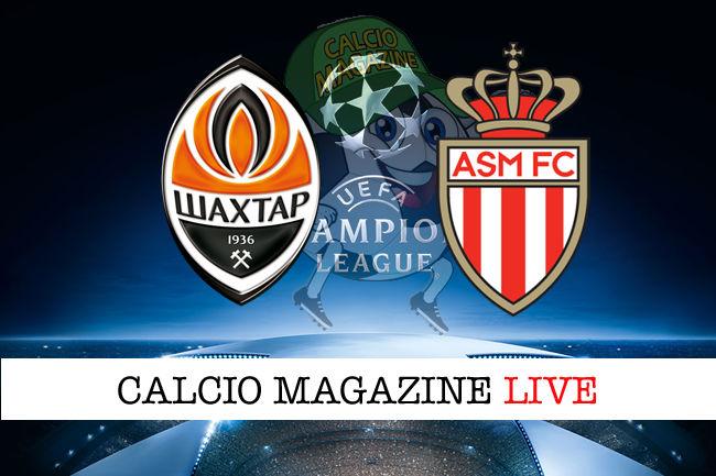 Shakhtar Donetsk Monaco cronaca diretta live risultato in tempo reale