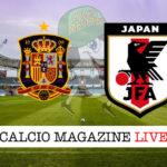 Spagna Giappone cronaca diretta live risultato in tempo reale
