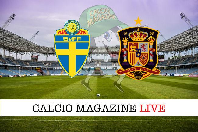 Svezia Spagna cronaca diretta live risultato in tempo reale