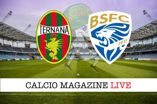 Ternana Brescia cronaca diretta live risultato in tempo