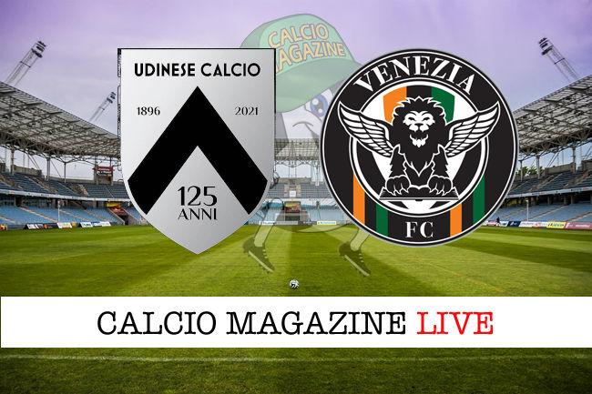 Udinese Venezia cronaca diretta live risultato in tempo reale