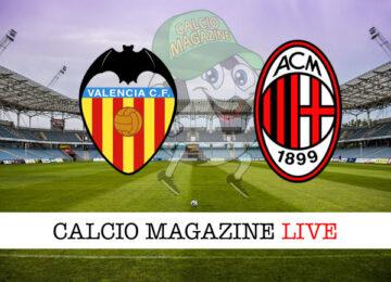 Valencia Milan cronaca diretta live risultato in tempo reale