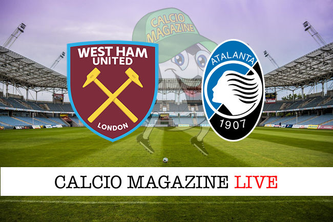 West Ham Atalanta cronaca diretta live risultato in tempo reale
