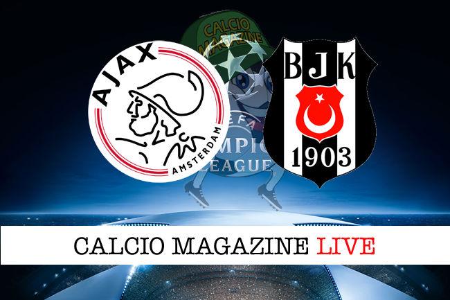 Ajax Besiktas cronaca diretta live risultato in tempo reale