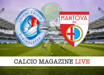 Albinoleffe Mantova cronaca diretta live risultato in tempo reale