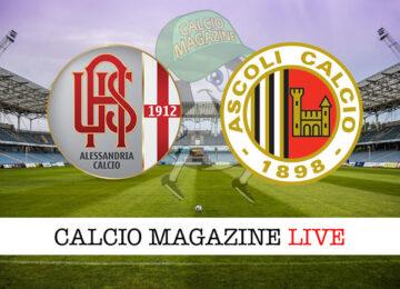 Alessandria Ascoli cronaca diretta live risultato in tempo reale