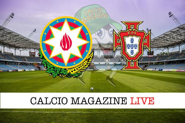 Arzebaigian Portogallo cronaca diretta live risultato in tempo reale