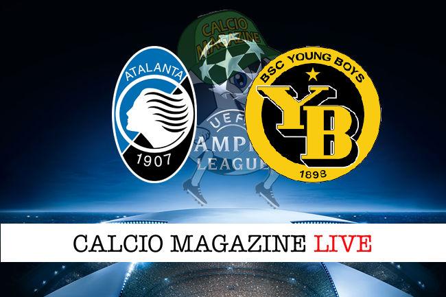 Atalanta Young Boys cronaca diretta live risultato in tempo reale