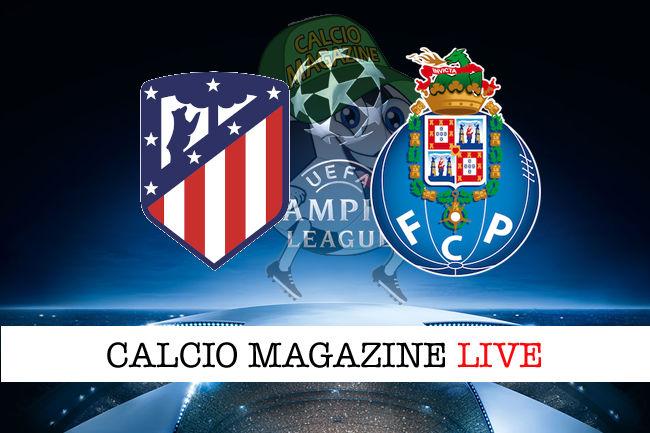 Atletico Madrid Porto cronaca diretta live risultato in tempo reale