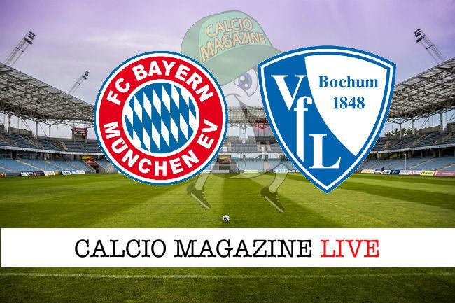 Bayern Monaco Bochum cronaca diretta live risultato in tempo reale