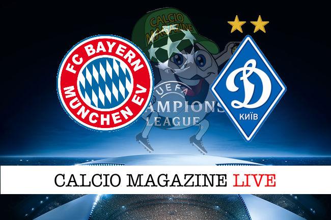 Bayern Monaco Dinamo Kiev cronaca diretta live risultato in tempo reale