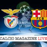 Benfica Barcellona cronaca diretta live risultato in tempo reale