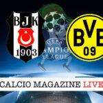 Besiktas Borussia Dortmund cronaca diretta live risultato in tempo reale