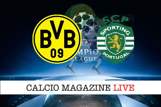 Borussia Dortmund Sporting Lisbona cronaca diretta live risultato in tempo reale