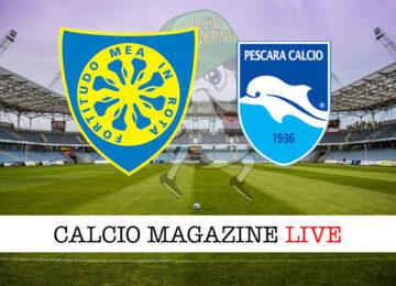 Carrarese Pescara cronaca diretta live risultato in tempo reale