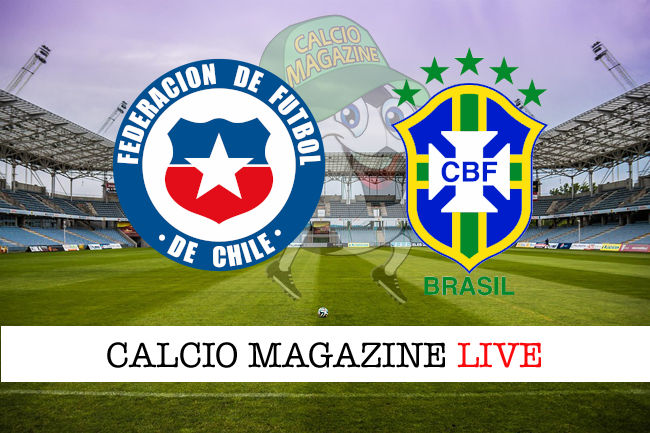 Cile Brasile cronaca diretta live risultato in tempo reale