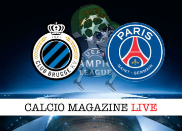 Club Brugge PSG cronaca diretta live risultato in tempo reale