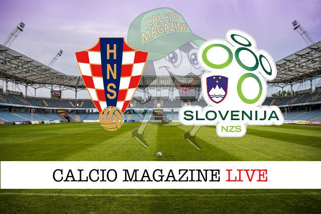 Croazia Slovenia cronaca diretta live risultato in tempo reale