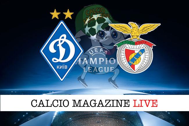 Dinamo Kiev Benfica cronaca diretta live risultato in tempo reale