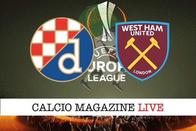 Dinamo Zagabria West Ham cronaca diretta live risultato in tempo reale