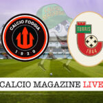 Calcio Foggia Turris cronaca diretta live risultato in tempo reale